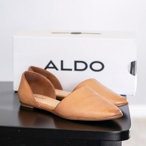 ALDO Chill 2 Flat Cognac Faux Leather w/ Box